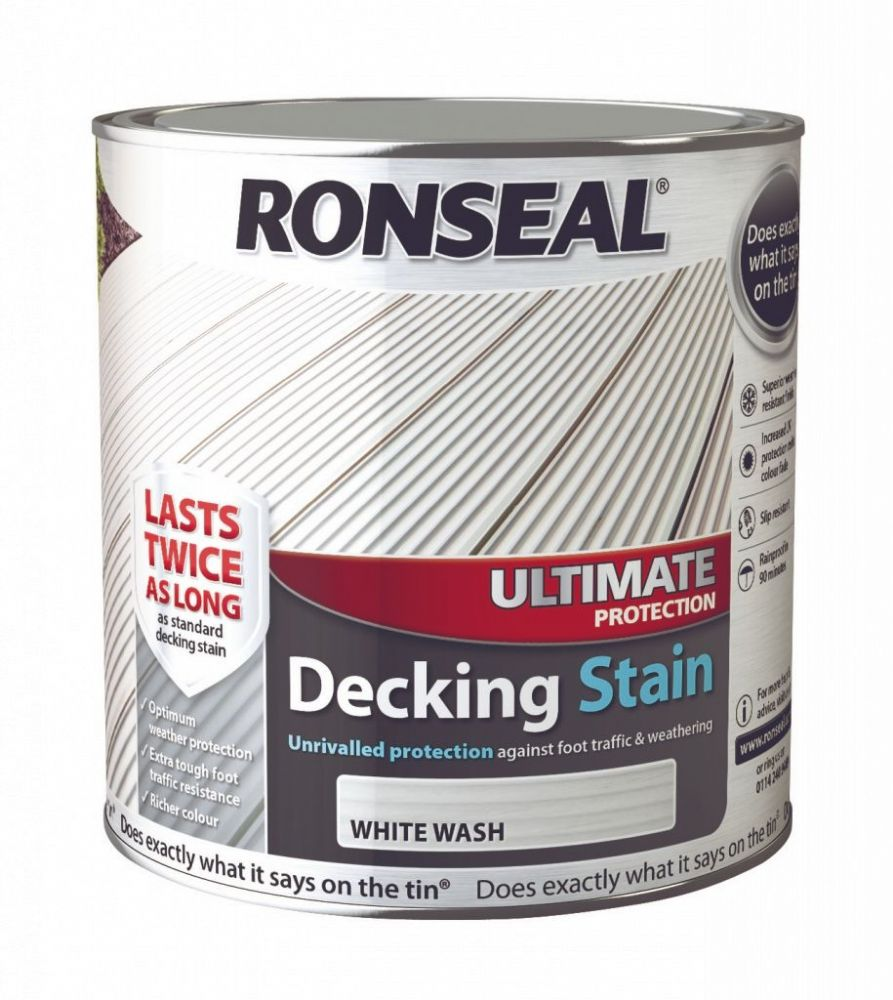 White Wash Gel Stain: Ronseal Ultimate Protection Decking Stain 2.5L
